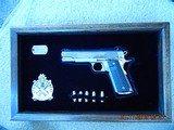 Unfired Springfield Armory 1911-A1 Full Custom Race Gun with 24K Gold & Display Case