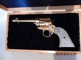 1966 Colt Commemorative Single Action 22LR for Colorado Gold Rush Era - 24k Gold Plated with Display Case - 1 of 10