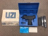 LNIB Pre-Ban IMI Micro Uzi Pistol 9mm Action Arms Import Early Round Trigger Guard With 3 Magazines
