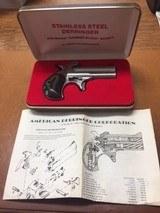 American Derringer Model 1 in 9mm Stainless Steel