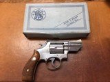 Nickel Smith and Wesson Model 19-3 .357 Magnum with Original Box and Sight Adjustment Tool - 3 of 11