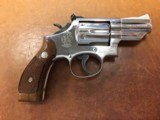 Nickel Smith and Wesson Model 19-3 .357 Magnum with Original Box and Sight Adjustment Tool - 1 of 11