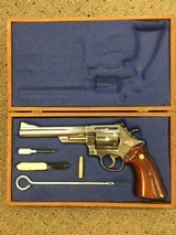 Nickel Smith and Wesson 29-2 .44 MAG In Presentation Case