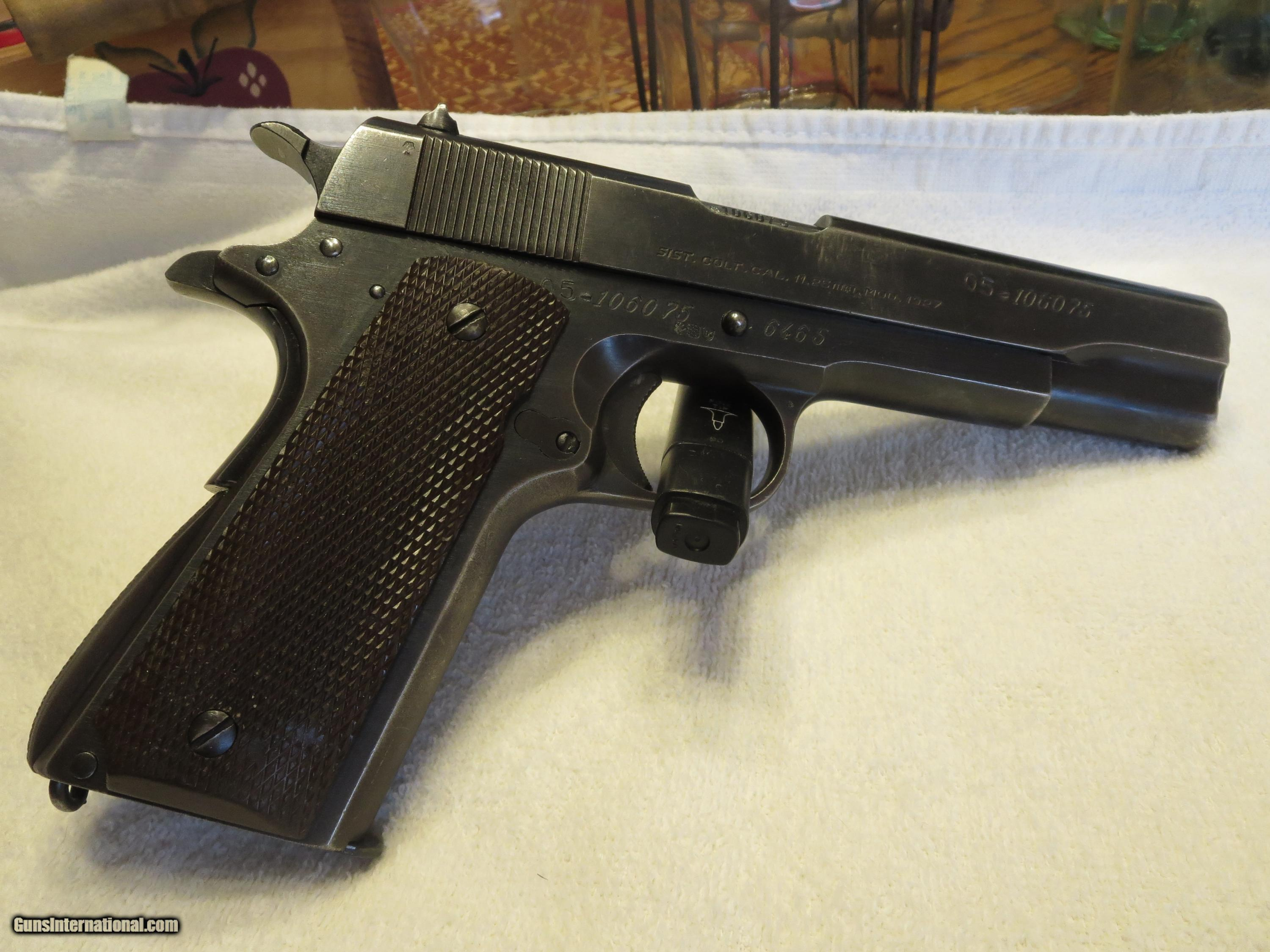 1959 Argentine Sistema Model 1927 1911(Colt 1911A1 Contract) 45 ACP