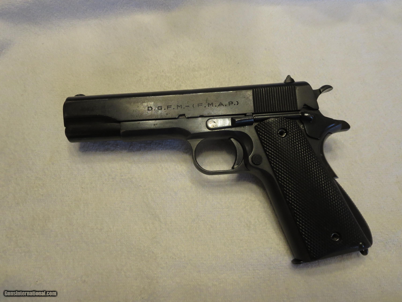 1945 Sistema Model 1927 Army Crested 1911(Colt 1911A1 Clone