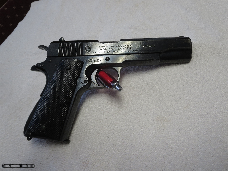 1960 Argentina Sistema Model 1927 NAVY Crested 1911(Colt 1911A1