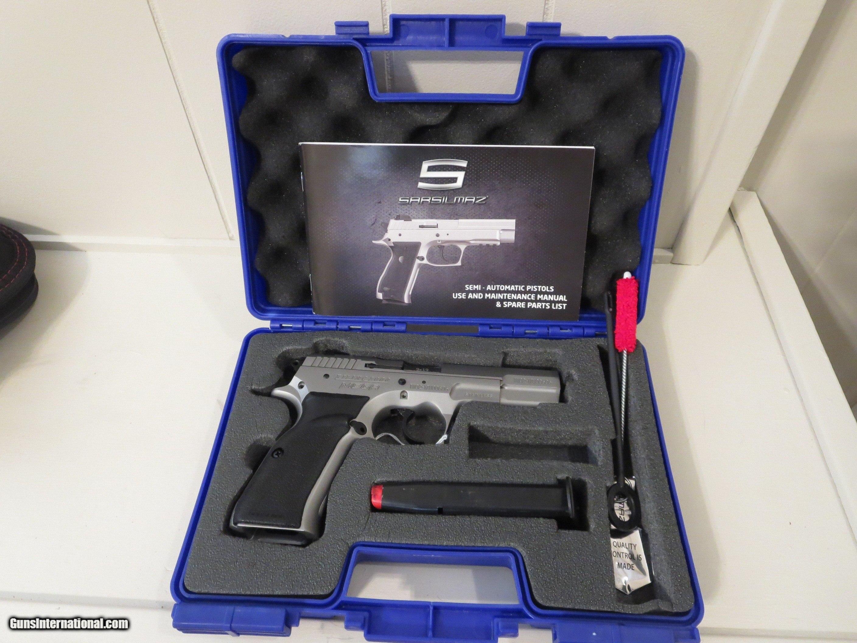 Sarsilmaz Kilinc 2000 Mega 9mm Pistol, Stainless Steel Finish