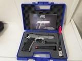 Sarsilmaz Kilinc 2000 Mega 9mm Pistol, Stainless Steel Finish, Double Action, Perfect Function/Finish, 15 Rd Mag