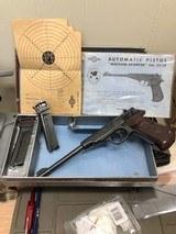 "1954 manurhin ""walther sporter"" 22lr target pistol, 90% condition, 8 3/8"" barrel, brown plastic target grips"
