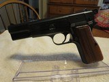 1967 Browning Hi-Power 9mm Pistol, 98% Finish, Bright Bore, Iconic Lighter Colored Grips, Non-import - 1 of 14