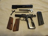 1967 Browning Hi-Power 9mm Pistol, 98% Finish, Bright Bore, Iconic Lighter Colored Grips, Non-import - 2 of 14