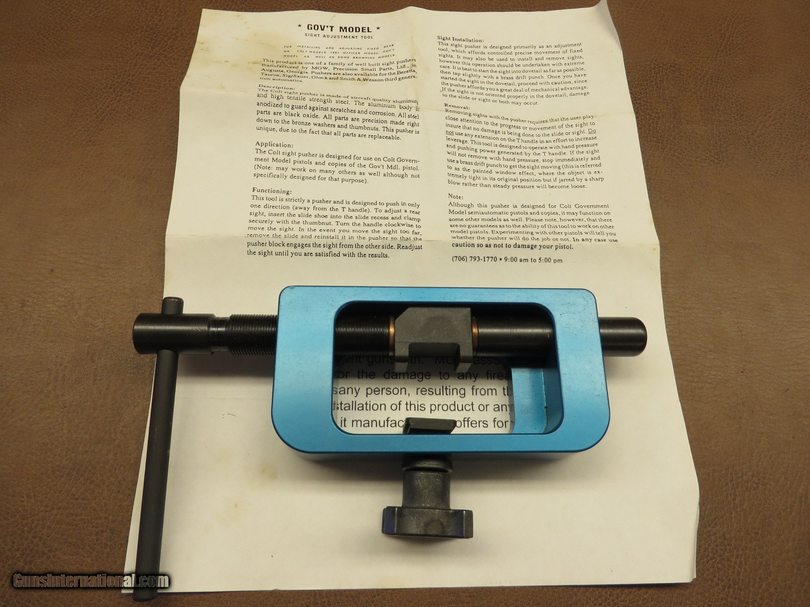 MGW Sight Adjusting Tool #310 CLT for sale