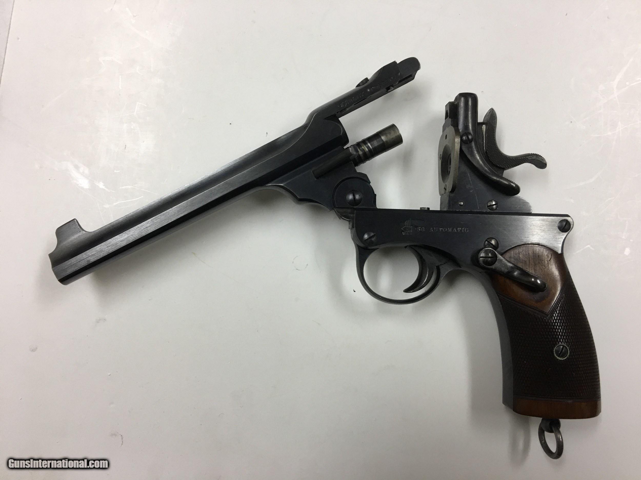 Webley Fosbery Model 1901  38 Automatic w/ 6