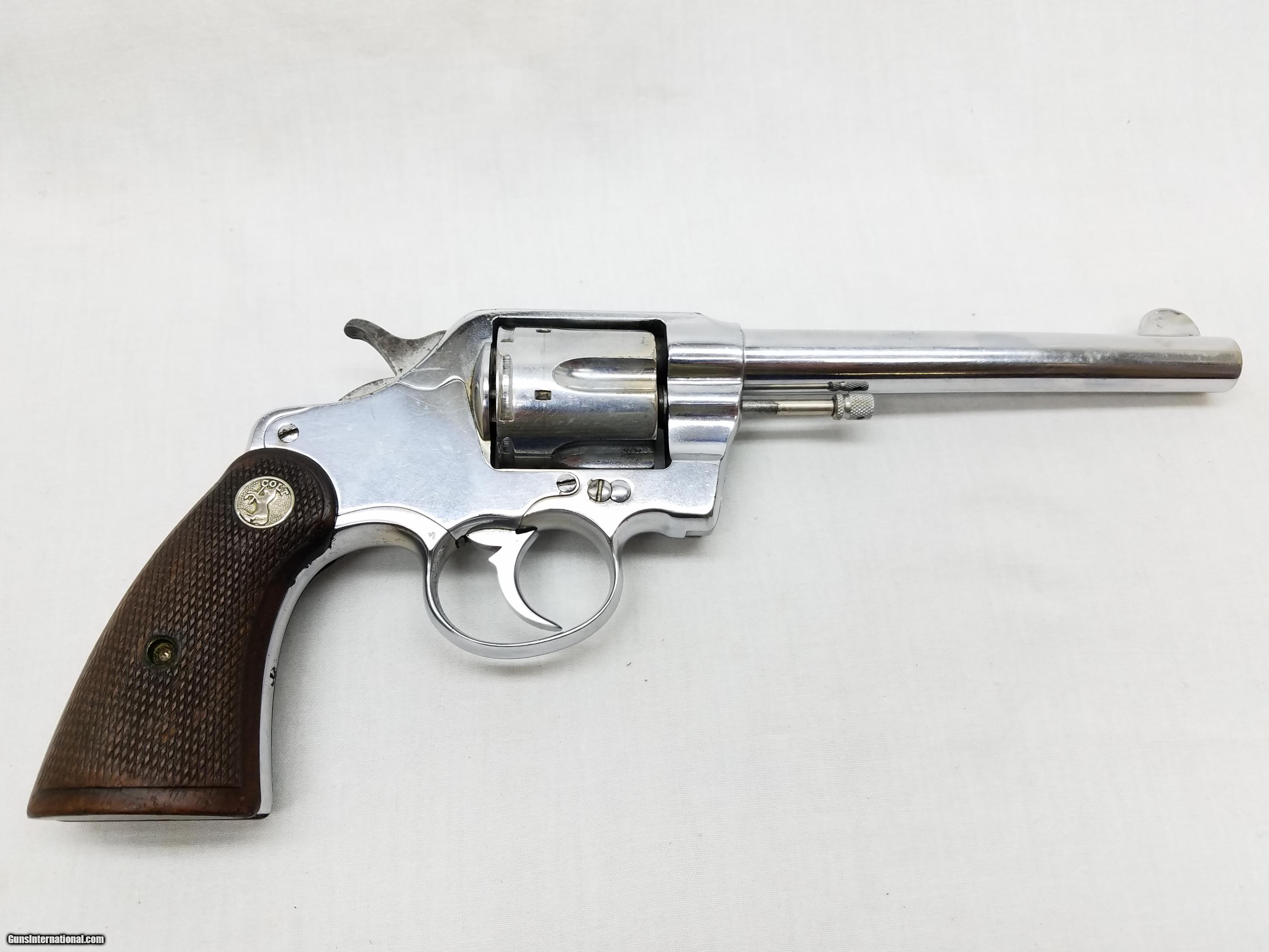 Colt D.A. 38 Nickel Double Action Revolver