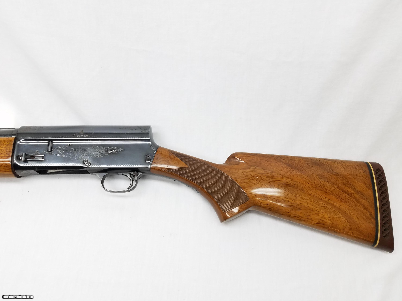 belgian browning a5 auto 5 magnum semi automatic 12 ga shotgun