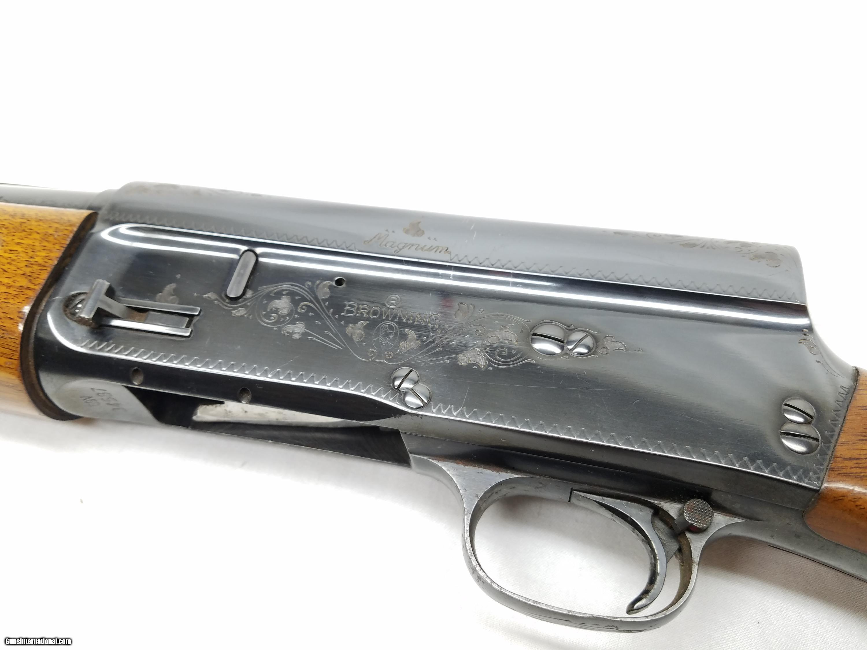 dating a browning a5 magnum I have a light in color browning a5 belgium made on right side of barrel it says  special steel-12 guage sheels 3 on the right side of the reciever says magnum.