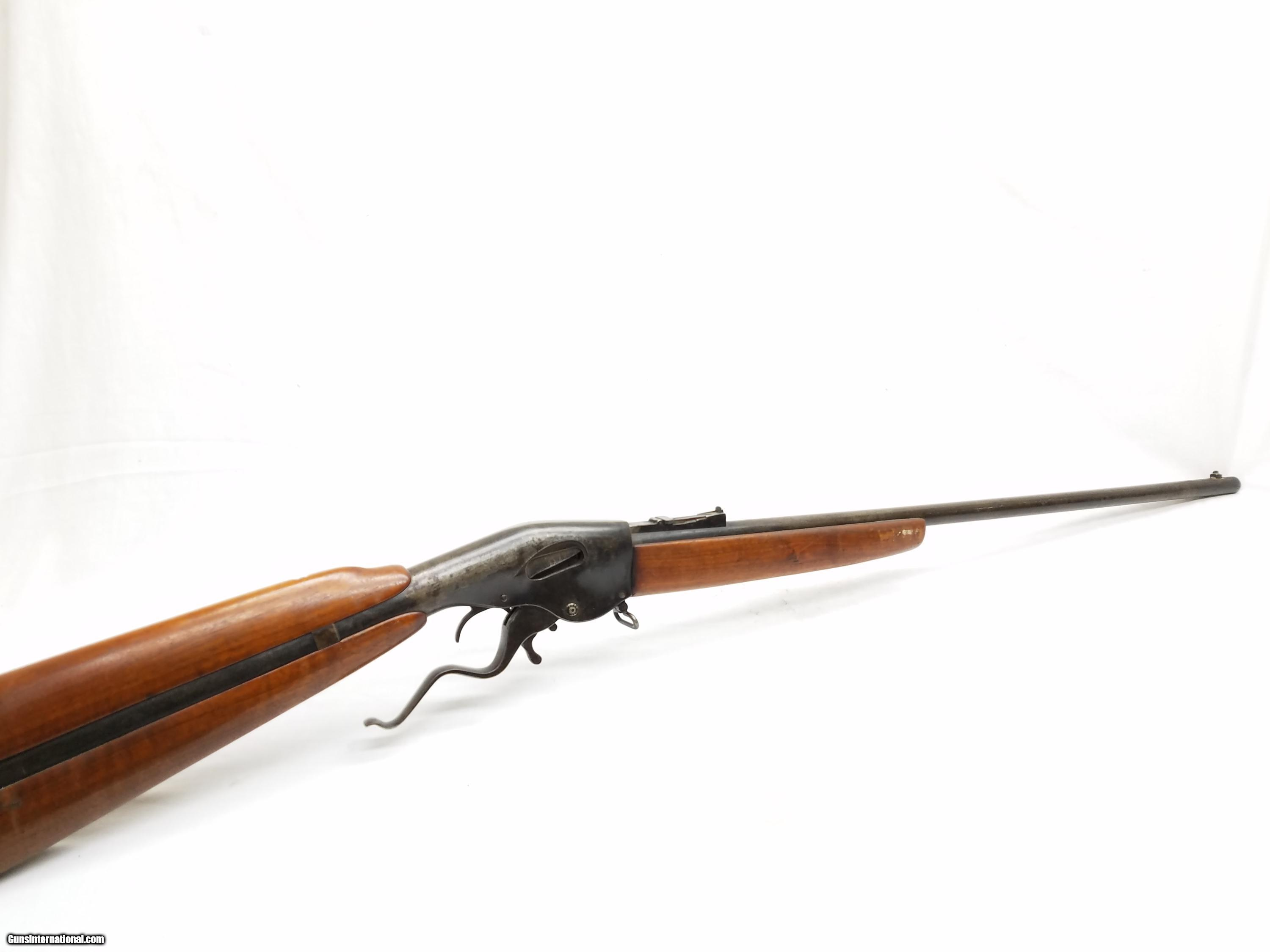 Front Elevation Antique : New model evans repeating rifle long stk a