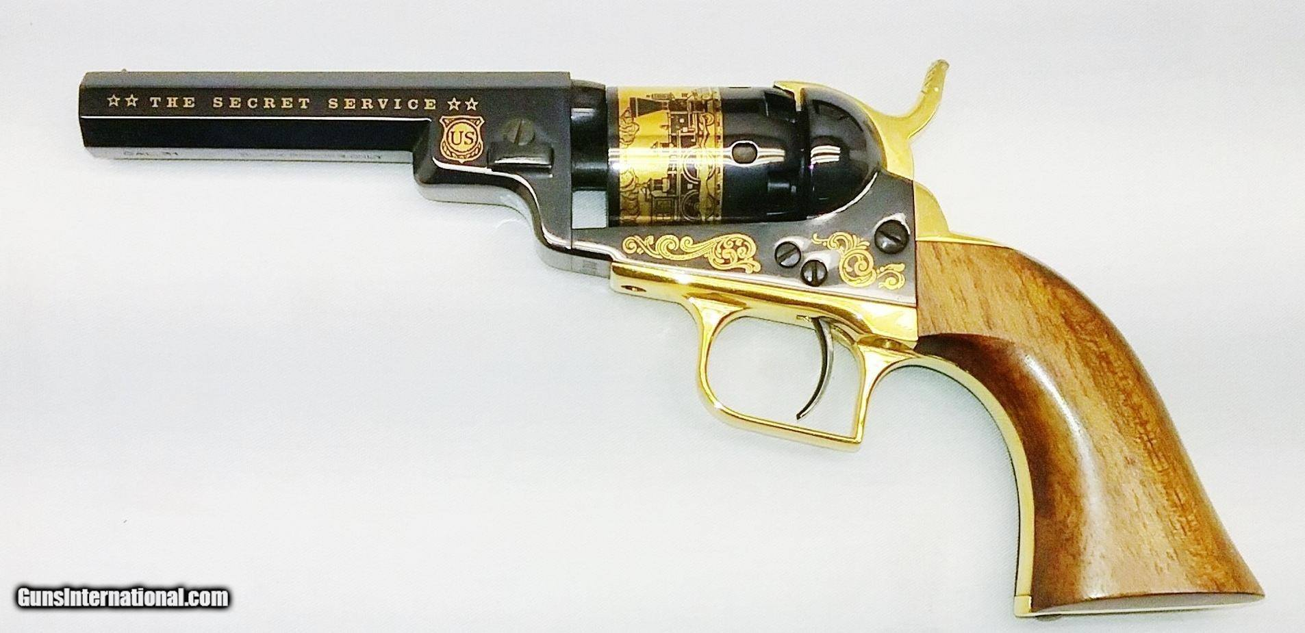 1848 Colt - Baby Dragoon - Cased - Gold Plated - Steel Frame - 31Cal