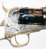 1848 Colt - Baby Dragoon - Cased -Gold Plated - Steel Frame - 31Cal by US Historical Society Stk# P-87-90 - 4 of 8
