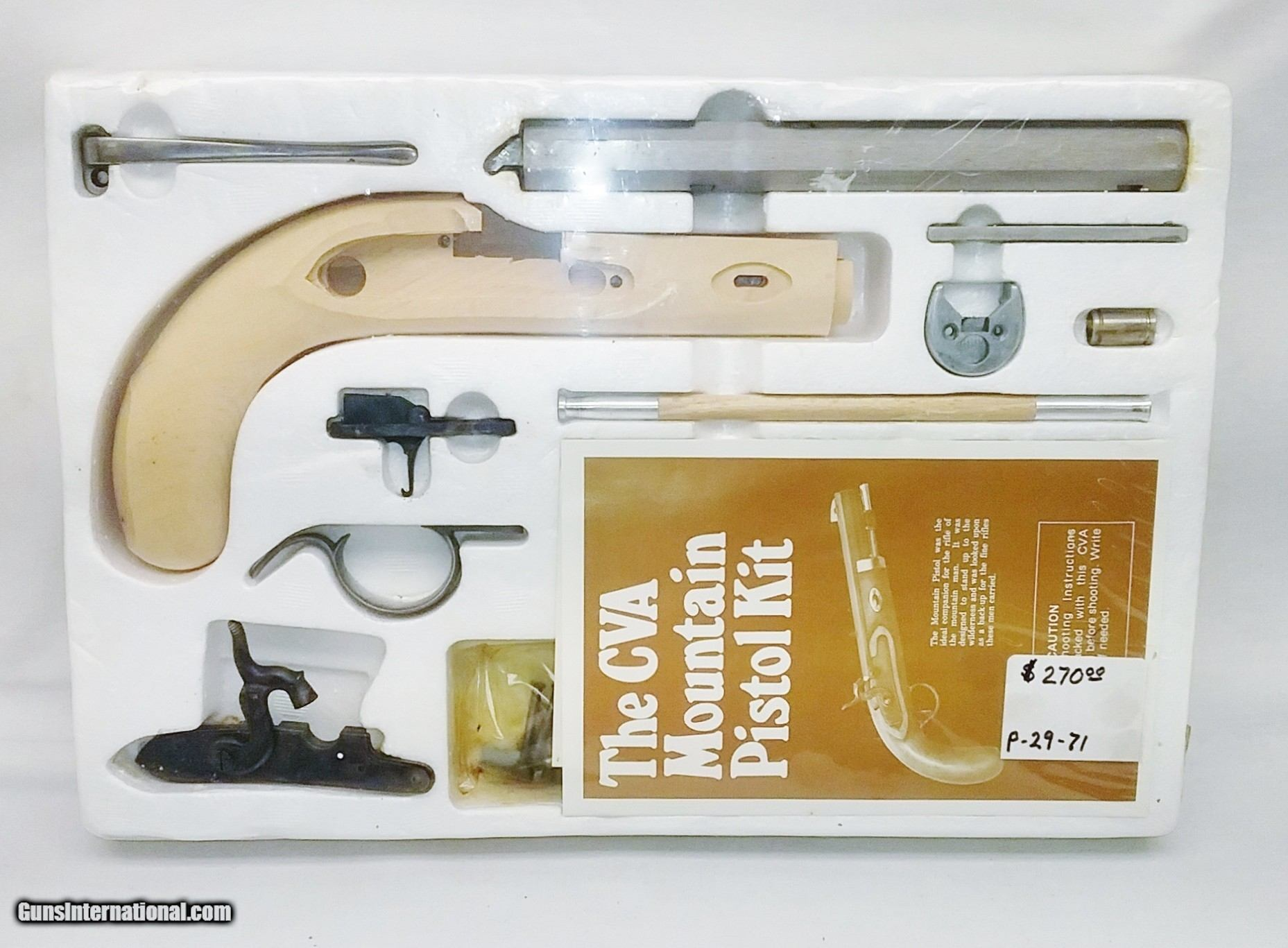 Kit - Mountain - Percussion - 45Cal by CVA Stk# P-29-71 for sale