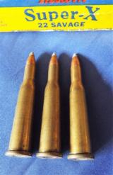 VINTAGE FULL BOX WESTERN SUPER-XAMMO* 22 SAVAGE * LUBALOY70GR. SOFTPOINT ~ SMOKELESS POWDER - 6 of 10