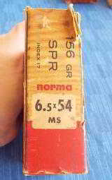 VINTAGE NORMA 6.5x54 MS ~ FULL BOX 156GR. SPR. BULLET ~ MATCH GRADE AMMUNITION ~ SWEDEN - 8 of 8