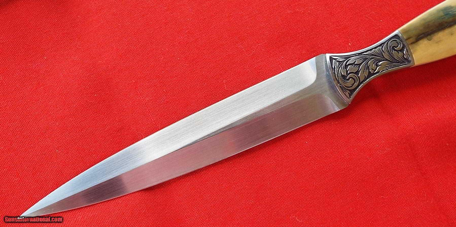 vintage ben shostle engraved master engraver custom dagger