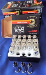 WINCHESTER * BLACK TALON * AMMUNITION 357 MAG 180gr. SXT FACTORY ORIGINAL AMMO (4)BOXES AVAILABLE