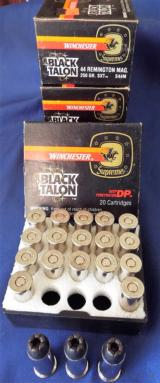 WINCHESTER * BLACK TALON * AMMUNITION 44 Rem mag, 250gr. SXT FACTORY ORIGINAL AMMO (4 BOXES AVAILABLE)