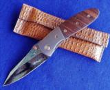 MARFIONE CUSTOM (MICROTECH) LIGHTFOOT LCC DOUBLE - ACTION VINTAGE COCOBOLO & DAMASCUS (Limited ONE of A KIND!) - 1 of 11