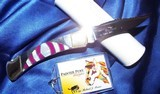 BUCK-110C CUSTOM MICHAEL PRATER ~ PAINTED PONY- Folding Knife signed-NEW in TUBEPEARL & SUGILITE ~~STUNNING! - 4 of 11