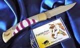 BUCK-110C CUSTOM MICHAEL PRATER ~ PAINTED PONY- Folding Knife signed-NEW in TUBEPEARL & SUGILITE ~~STUNNING! - 10 of 11