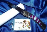 BUCK-110C CUSTOM MICHAEL PRATER ~ PAINTED PONY- Folding Knife signed-NEW in TUBEPEARL & SUGILITE ~~STUNNING! - 6 of 11