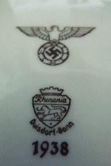 VINTAGE ORIGINAL THIRD REICH GERMAN ARMY MESS HALL DINNER PLATES WWII