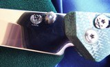 WILL MOON Custom BANSHEE knife LEFTY!! Bowie ~ GLOWS IN THE DARK! NEW in POUCH - 4 of 11