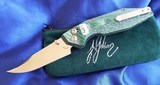 WILL MOON Custom BANSHEE knife LEFTY!! Bowie ~ GLOWS IN THE DARK! NEW in POUCH - 2 of 11