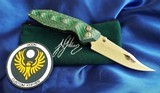 WILL MOON Custom BANSHEE knife LEFTY!! Bowie ~ GLOWS IN THE DARK! NEW in POUCH - 1 of 11