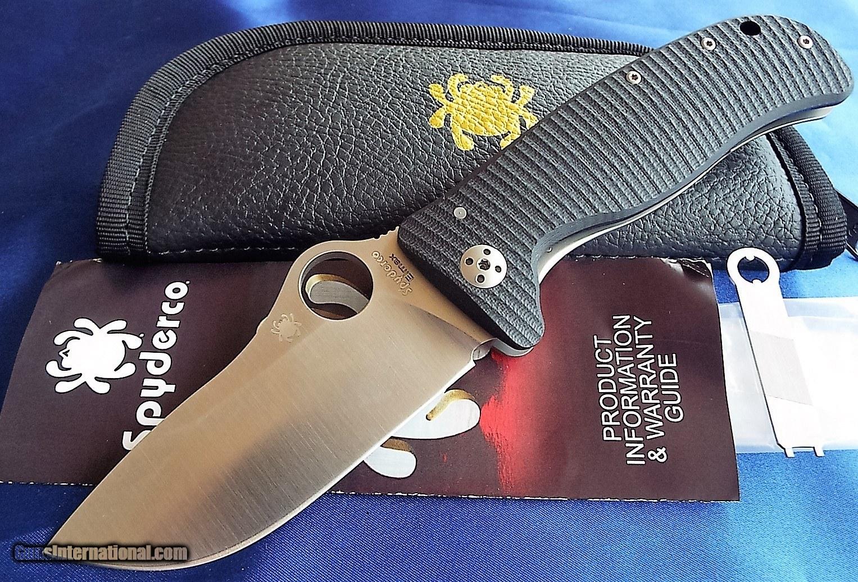 Spyderco large LIONSPY Knife NEW C157GTIP, Elmax Blade G-10
