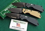 PROTECH STRIDER SnG KNURLED ALUMINUM AUTO KNIVES WITH LOCK & BLACK DLC BLADES New in boxes