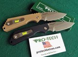PROTECH STRIDER SnG KNURLED ALUMINUM(Tan or Black) AUTO KNIVES WITH LOCK & STONEWASH PLAIN BLADES (NIB) dealer - 2 of 10