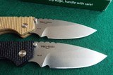 PROTECH STRIDER SnG KNURLED ALUMINUM(Tan or Black) AUTO KNIVES WITH LOCK & STONEWASH PLAIN BLADES (NIB) dealer - 5 of 10