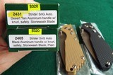 PROTECH STRIDER SnG KNURLED ALUMINUM(Tan or Black) AUTO KNIVES WITH LOCK & STONEWASH PLAIN BLADES (NIB) dealer - 10 of 10