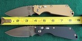 PROTECH STRIDER SnG KNURLED ALUMINUM(Tan or Black) AUTO KNIVES WITH LOCK & STONEWASH PLAIN BLADES (NIB) dealer - 4 of 10