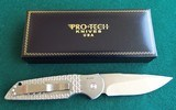 """PROTECH """"STEEL CUSTOM"""" LIMITED EDITION AUTO (#7 of 50) 416 STEEL FRAME/ FISH SCALE/MIRROR POLISHED/ PEARL BUTTON TR3x1.4 *NIB* - 5 of 9"""