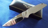 """PROTECH """"STEEL CUSTOM"""" LIMITED EDITION AUTO (#7 of 50) 416 STEEL FRAME/ FISH SCALE/MIRROR POLISHED/ PEARL BUTTON TR3x1.4 *NIB* - 1 of 9"""