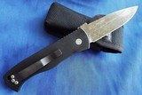 Protech Emerson CQC7AAuto w/ Blue & Black Textured G-10 Top & Acid Washed Spear Point NIB #144 - 3 of 10