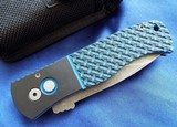Protech Emerson CQC7AAuto w/ Blue & Black Textured G-10 Top & Acid Washed Spear Point NIB #144 - 2 of 10