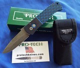 Protech Emerson CQC7AAuto w/ Blue & Black Textured G-10 Top & Acid Washed Spear Point NIB #144 - 6 of 10