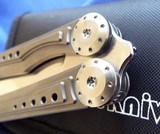 Titanium RIKE Knives BALISONG / BUTTERFLY Knife **Stunning**New in Pouch - 6 of 12