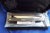 Titanium RIKE Knives BALISONG / BUTTERFLY Knife **Stunning**New in Pouch - 10 of 12